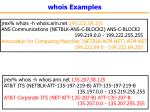 whois examples