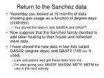 return to the sanchez data