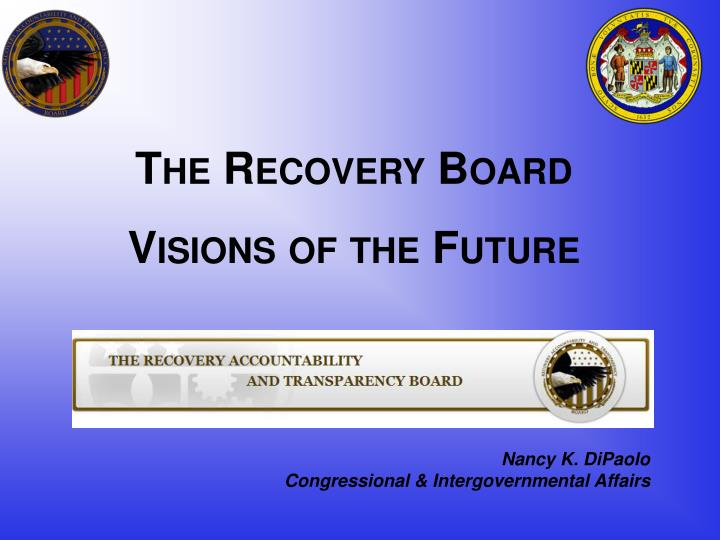 the recovery board visions of the future n.