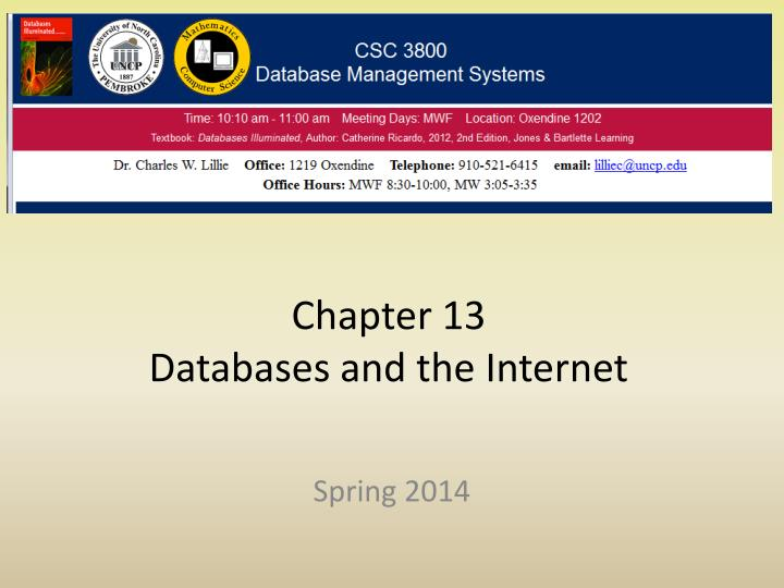 chapter 13 databases and the internet n.