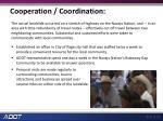 cooperation coordination