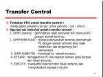 transfer control