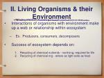 ii living organisms their environment
