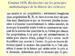 cournot 1838 recherches sur les principes math matiques de la th orie des richesses
