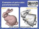 examples of poly cubic parameterizations