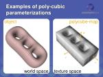 examples of poly cubic parameterizations1