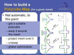 how to build a polycube map for a given mesh
