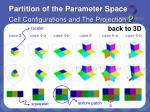 partition of the parameter space cell configurations and the projection p