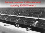 kramer junction california total capacity 150mw elec