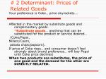 2 determinant prices of related goods