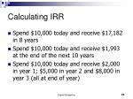 calculating irr
