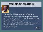 example shaq attack