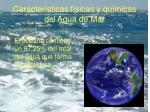 caracter sticas f sicas y qu micas del agua de mar