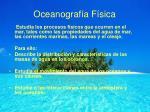 oceanograf a f sica