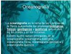oceanograf a