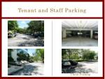 tenant and staff parking