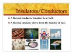 insulators conductors