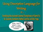 using descriptive language for writing