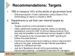 recommendations targets