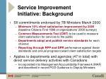 service improvement initiative background