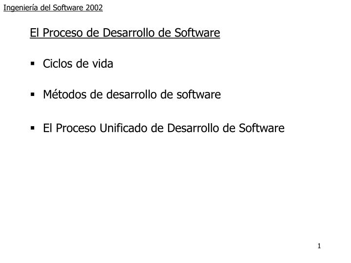 ingenier a del software 2002 n.