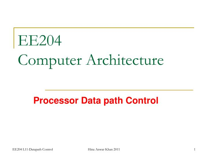ee204 computer architecture n.