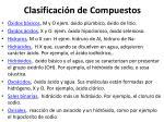 clasificaci n de compuestos