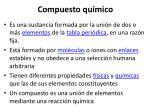 compuesto qu mico