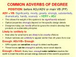 common adverbs of degree