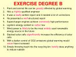 exercise degree b