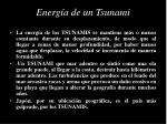 energ a de un tsunami