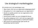 uw strategisch marketingplan