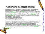 assonance consonance