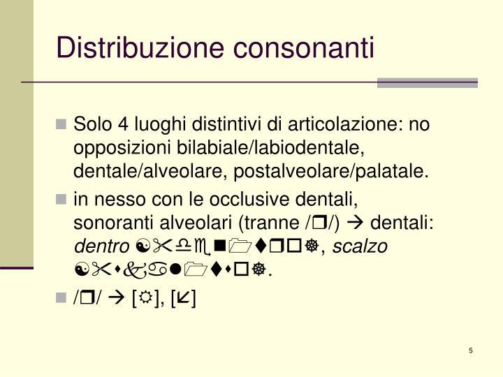 Distribuzione consonanti