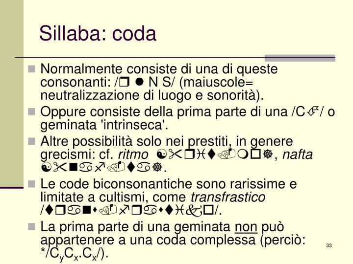 Sillaba: coda