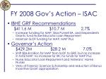fy 2008 gov s action isac
