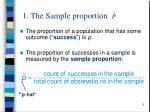 1 the sample proportion