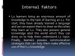 internal faktors