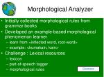 morphological analyzer