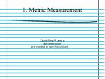 1 metric measurement