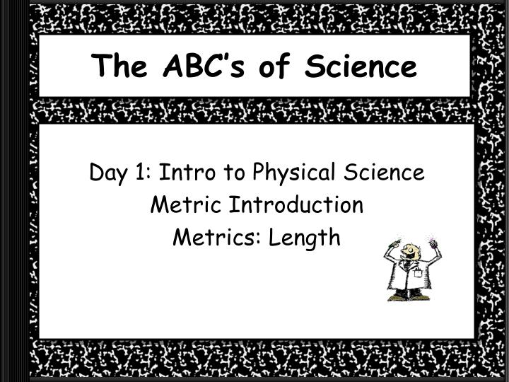the abc s of science n.
