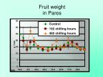 fruit weight in paros