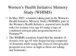 women s health initiative memory study whims