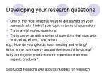 developing your research questions