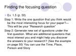 finding the focusing question