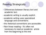 reading strategically
