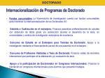 internacionalizaci n de programas de doctorado