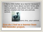 how do i feel as a learner from the iwonder project