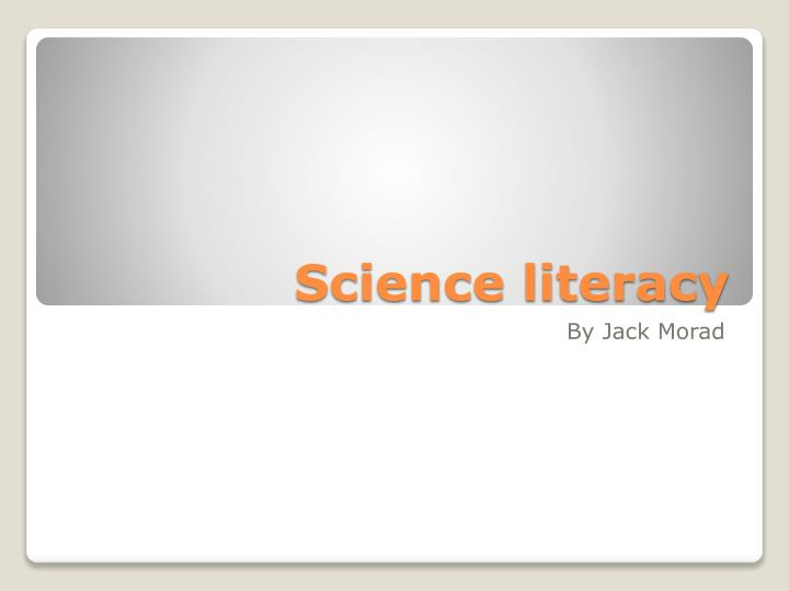 science literacy n.