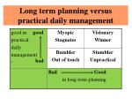 long term planning versus practical daily management1